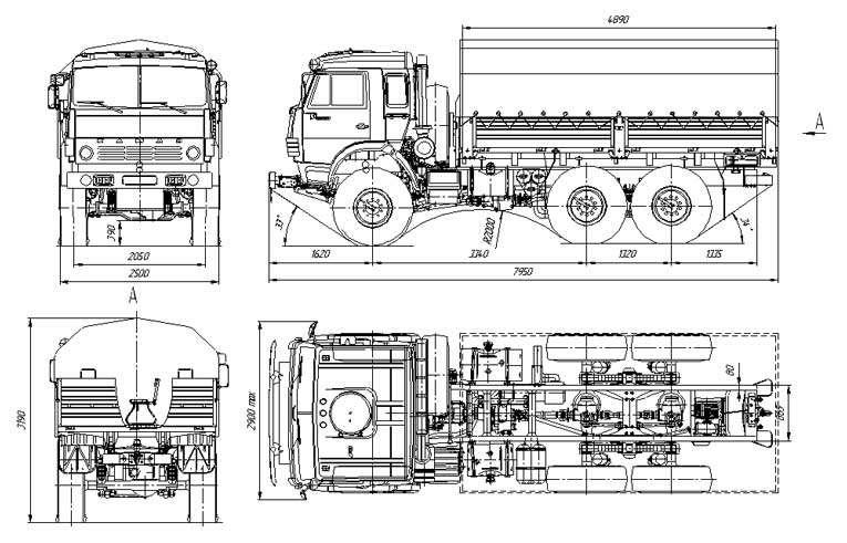 КамАЗ 5350 технические характеристики: двигатель, трансмиссия и кабина