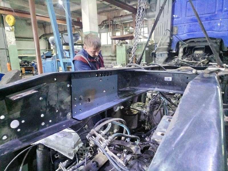 Ремонт рамы и подвески грузовиков