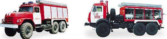 Типаж, классификация, система обозначений, общее устройство и основные технические данные пожарных автомобилей