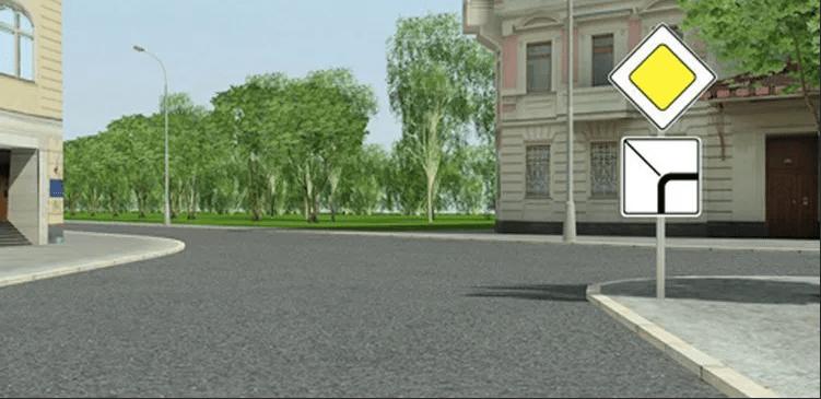 Нужно ли подавать сигнал поворотника при изгибе главной дороги?