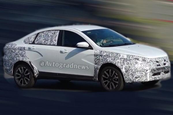 Обновлённый седан Lada Vesta Cross заметили на тестах