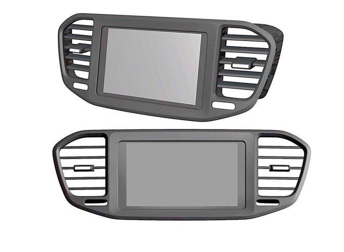 Детали интерьера Lada Vesta FL начали патентовать