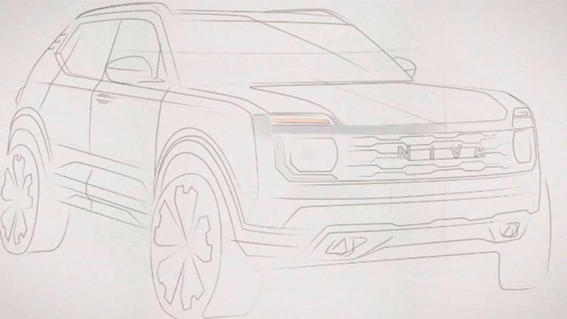 Внедорожник Lada Niva второго поколения показали «под покрывалом»